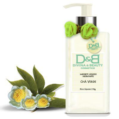 Sabonete líquido hidratante Chá Verde Mãos e Corpo Divina & Beautyvidro