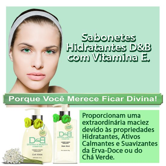 Sabonete líquido hidratante Erva Doce Mãos e Corpo Divina & Beautyvidro
