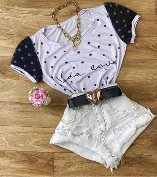 Blusa T-Shirt Feminina Vida Leve Vida