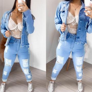 Calça Jeans Feminina Lavagem Clara