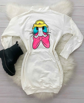 Chemise Blusão Vestido Feminino Desenhos