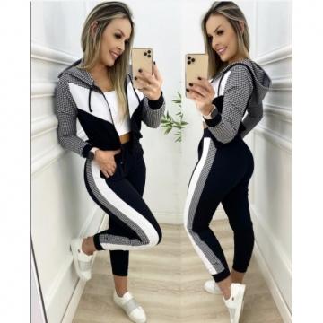 Conjunto Feminino Preto e Branco