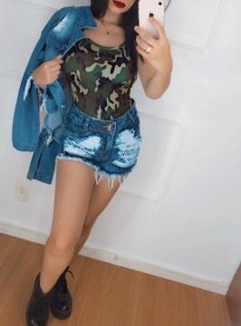 Shorts Jeans Feminino Lavagem Escura