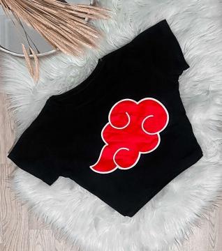 T-Shirt Cropped Feminino Naruto Akatsuki