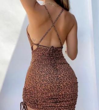Vestido Alcinha Curto Estampa Oncinha Animal Print