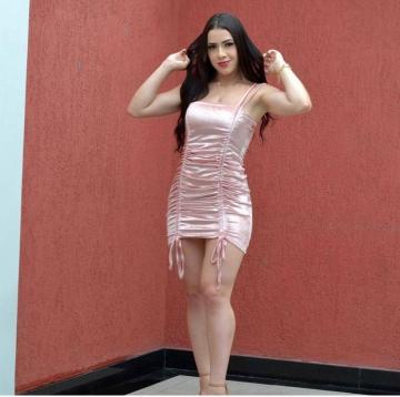 Vestido Feminino Veludo Molhado