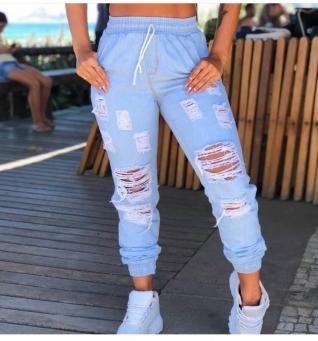 Calça Jeans Feminina Jogger Clara