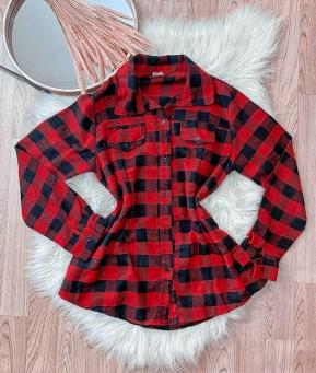 Camisa Feminina Viscose Xadrez