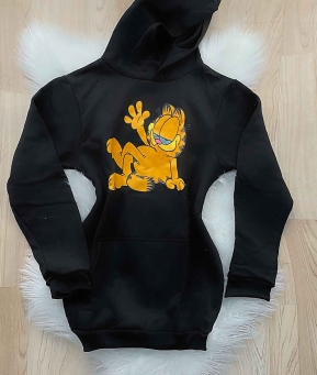 Moletom Feminino Vestido Blusão Garfield
