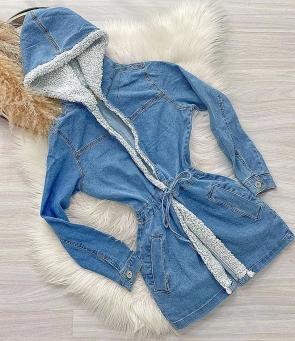 Parka Feminina Jeans