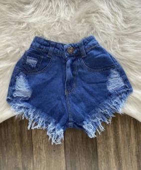 Shorts Jeans Feminino Rasgadinho