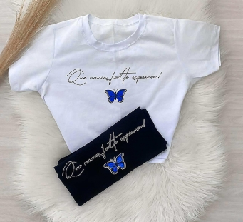 T-Shirt Cropped Feminino Butterfly 2.0