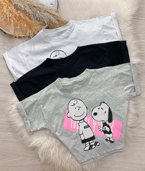 T- Shirt Feminina Snoopy