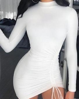 Vestido Feminino Manga Longa Tubinho