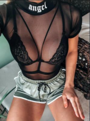 Body Feminino de Tule Angel