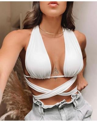 Top Cropped Feminino Amarração Isa