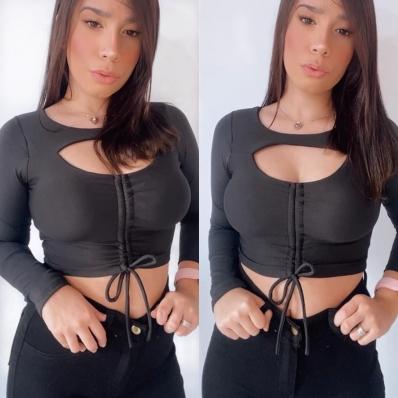 Top Cropped Feminino Gringa com Decote