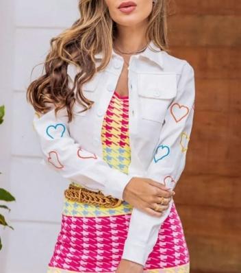 Jaqueta Bengaline Feminina de Coração