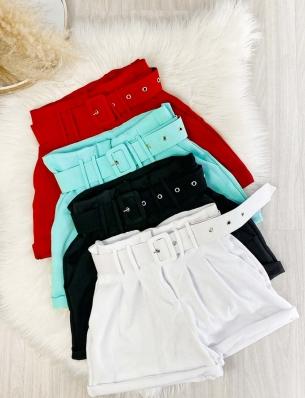 Shorts Feminino Alfaiataria com Cinto