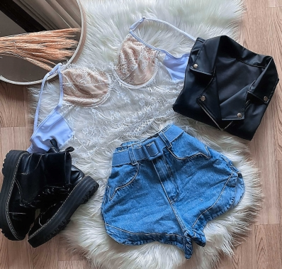 Shorts Jeans Feminino Isabelle