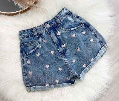 Shorts Jeans Feminino Love