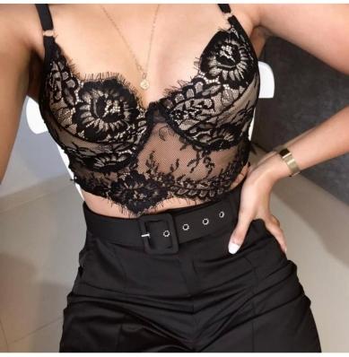 Top Cropped Gringo Renda Sutiã Feminina Sem Bojo Com Aro - Alça Com Regulagem