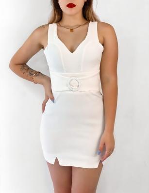 Vestido Feminino Curto com Cinto
