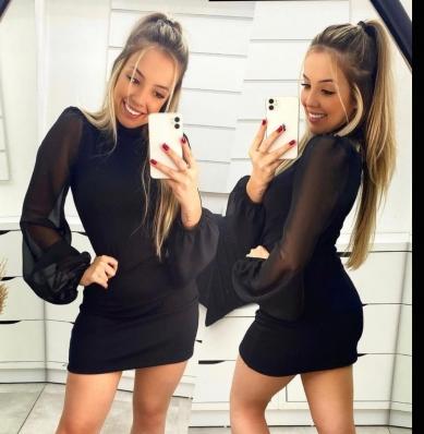 Vestido Feminino De Tule Preto