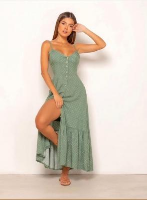 Vestido Feminino Longo Poá