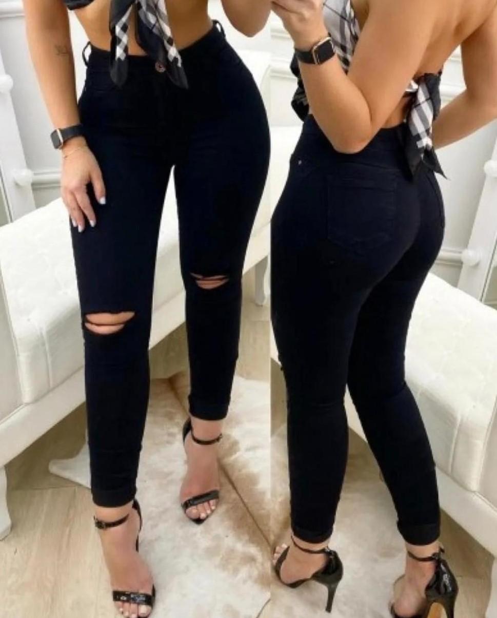 Calça Jeans Feminina All Black