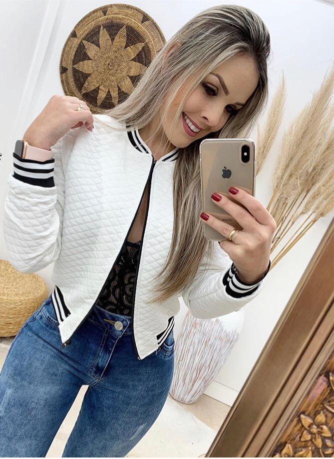 Jaqueta Imita Couro