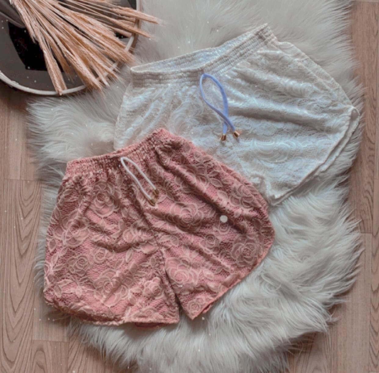 Shorts Feminino Renda com Poliamida