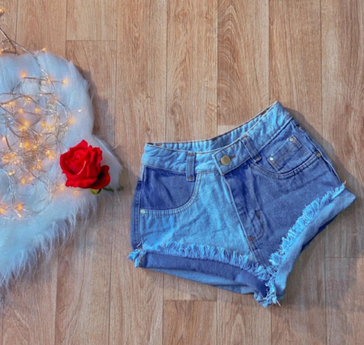 Shorts Jeans Duas Cores
