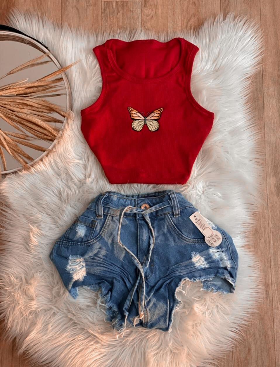 Shorts Jeans Feminino Pietra