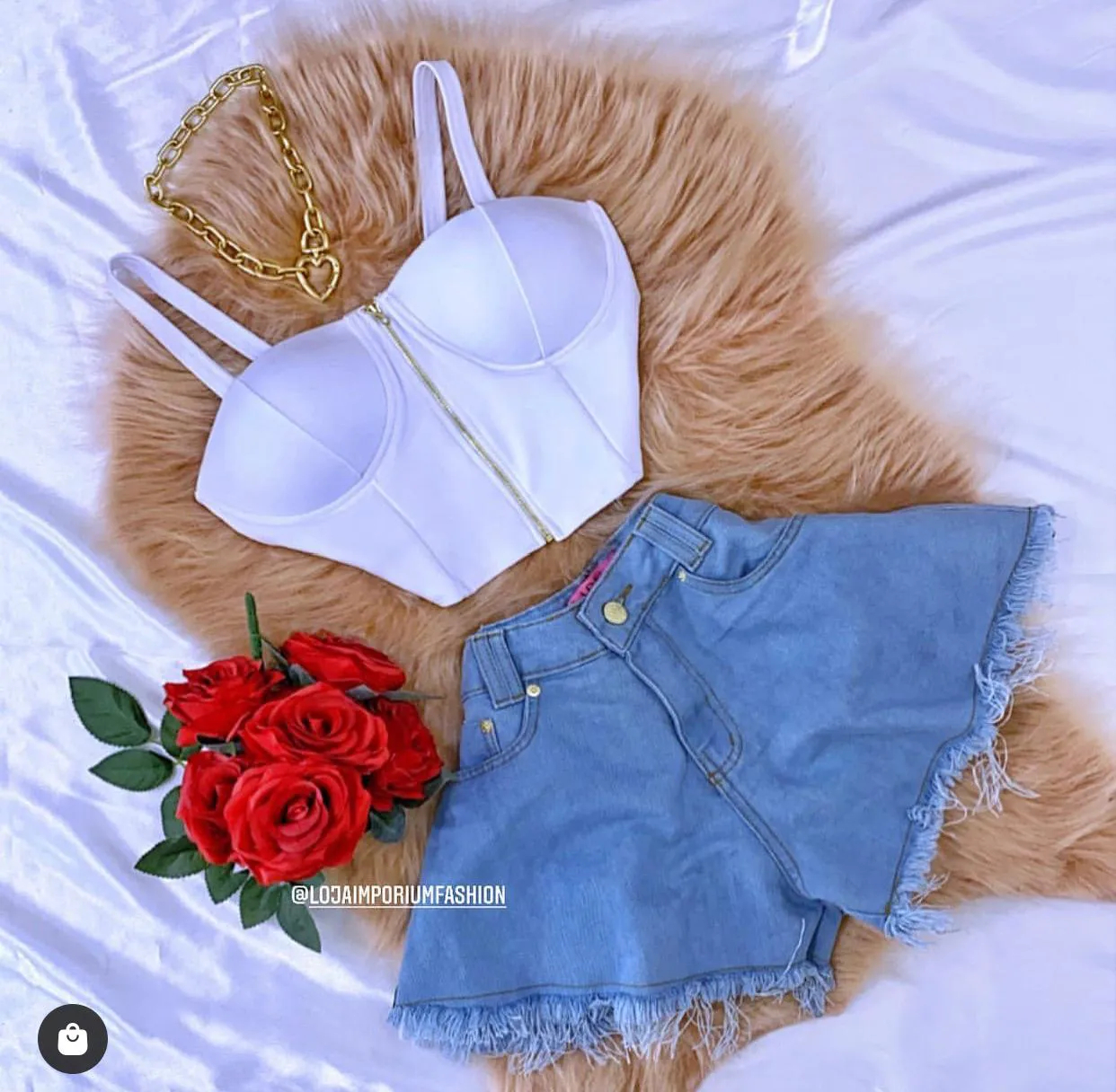 Shorts Jeans Godê