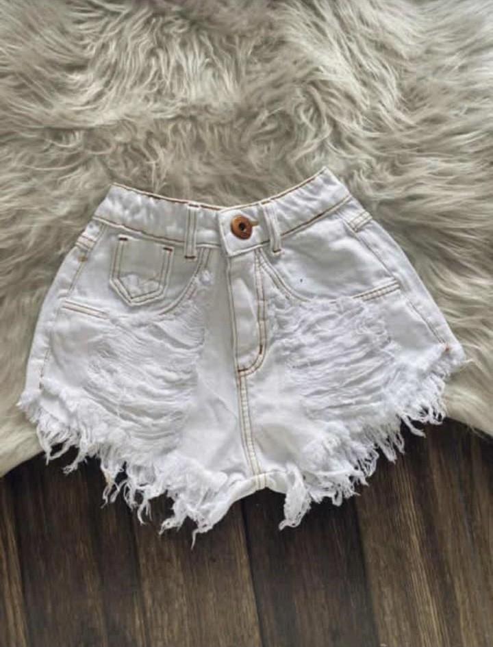 Shorts Jeans Feminino Branco