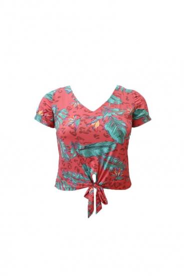 Blusa T-Shirt Estampada Plus Size Coral Predilect's Plus Beach