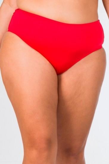 Calcinha Cintura Alta Plus Size Lisa Vermelha