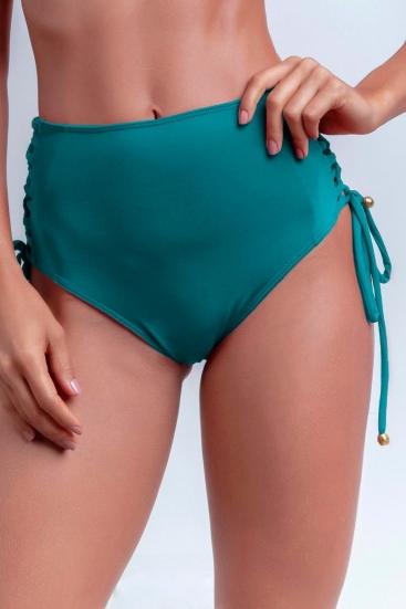 Calcinha De Biquíni Cintura Alta Hot Pants Com Lateral Trançada