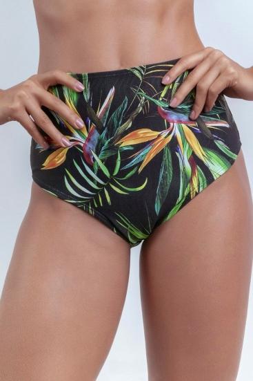 Calcinha De Biquíni Hot Pants Preta Estampada