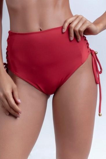 Calcinha De Biquíni Hot Pants Vermelha Lateral Trançada
