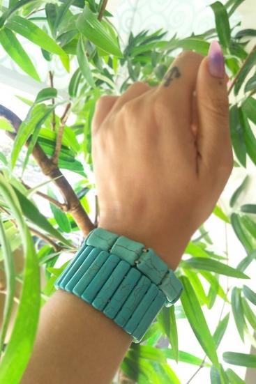 Kit Bracelete De Miçangas Turquesa