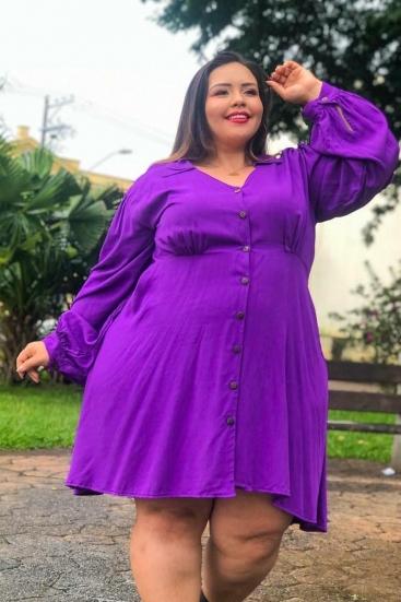 Vestido Chemise Mule Plus Size
