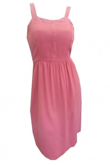 Vestido Curto Básico De Cetim Rosé Terracota