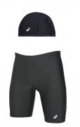 Bermuda E Touca Asics De Natação E Triathlon Com Proteção Uv
