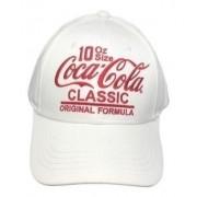 Boné Branco Coca Cola Jeans E Acessories Classic Aba Curva