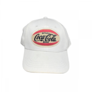 Boné Branco Coca Cola Jeans E Acessórios Estampa Em Patch