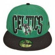 Boné New Era Boston Celtics Basket Fechado De Aba Reta
