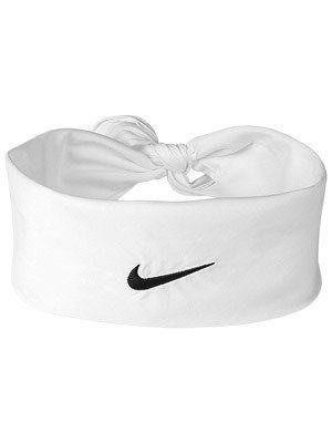 Faixa Bandana Nike Branca Para Tenista, Estilo Roger Federer