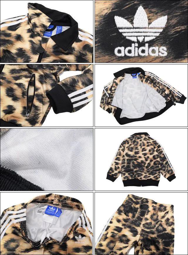 Agasalho Infantil Adidas Originals Conjunto Calça E Jaqueta Estampa De Oncinha